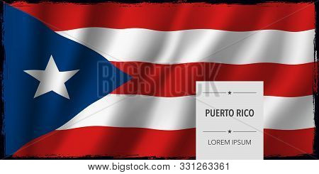 Puerto Rico Template Independence Day Greeting Card, Banner Vector Illustration. Puerto Rican Nation