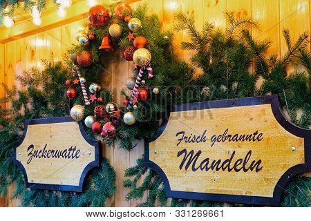 Christmas Wreath Night Christmas Market Charlottenburg Palace Berlin
