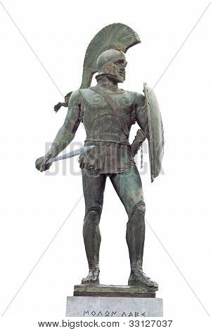 Greek ancient warrior satue