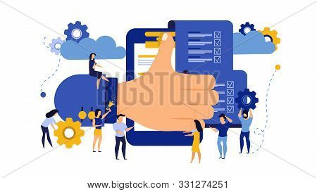 Business Relationship Vector Appreciation Document Cooperation Illustration. Success Meeting Respect