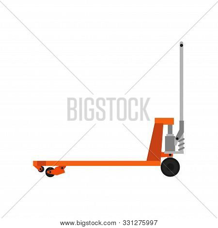Pallet Jack Delivery Cargo Truck Box Equipment Warehouse Illustration Vector. Forklift Crate Isolate