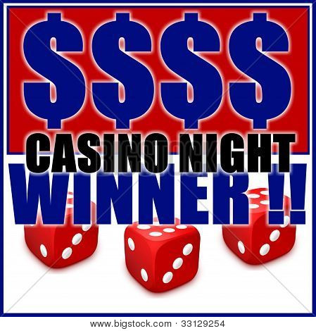 Casino Night Sign