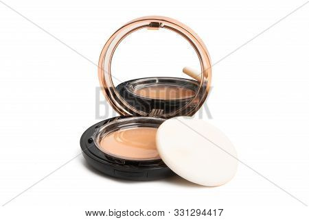 Face Powder Makeup Isolated On White Background