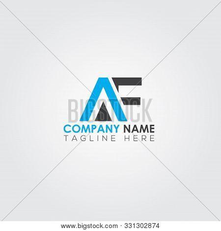 Af Font Logo Vector Design. New Af Logo Template. Font Af. Text Type Logo. Letter Logo. Af Letter Lo