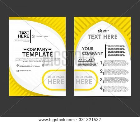 Yellow Business Flayer Concept Templates Can Be Used For Companies And Businesses