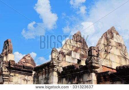 Prasat Sdok Kok Thom The Historical Park In Thailand, Is An Ancient Khmer Hindu Temple Dedicated Shi