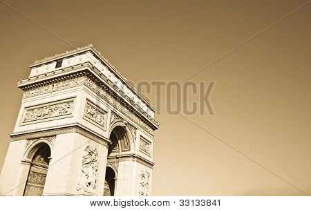 The Arc de Triomphe (Arc de Triomphe de l'Йtoile) is one of the most famous monuments in Paris. It stands in the centre of the Place Charles de Gaulle at the western end of the Champs-Йlysйes poster