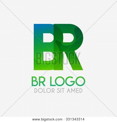 The Br Logo With Striking Colors And Gradations, Modern And Simple For Industrial, Retail, Business,
