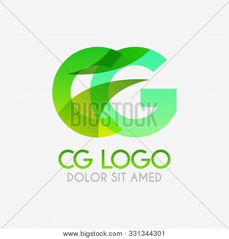 The Cg Logo With Striking Colors And Gradations, Modern And Simple For Industrial, Retail, Business,