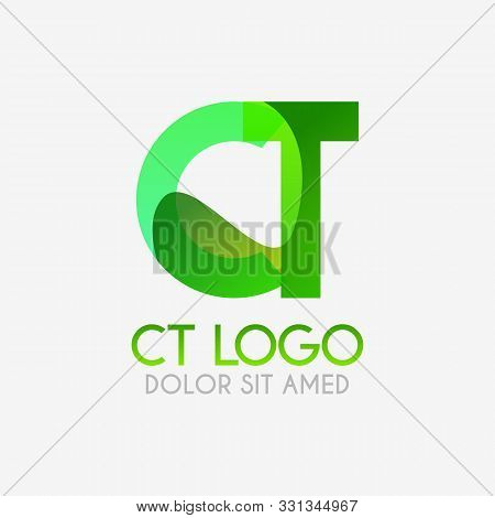 The Ct Logo With Striking Colors And Gradations, Modern And Simple For Industrial, Retail, Business,
