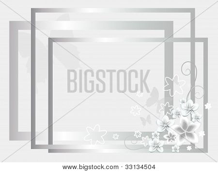 silver wedding background
