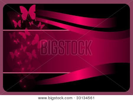elegant gift card with butterflies