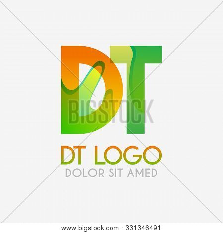 The Dt Logo With Striking Colors And Gradations, Modern And Simple For Industrial, Retail, Business,