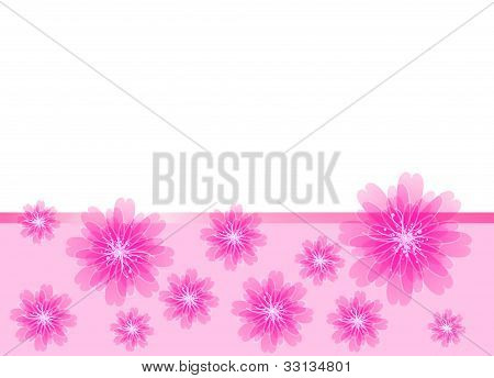 beautiful pink card with flowers
