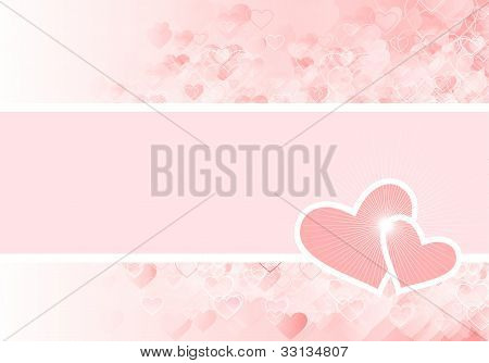 pink card with hearts