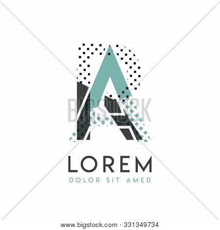 Ra Modern Logo Design With Gray And Blue Color That Can Be Used For Creative Industries And Paper Pr