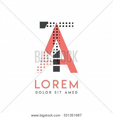 Ta Modern Logo Design With Gray And Pink Color That Can Be Used For Creative Business And Advertisin