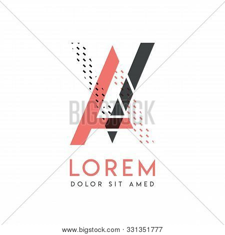Va Modern Logo Design With Gray And Pink Color That Can Be Used For Creative Business And Advertisin