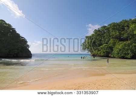 View Of Frenchmen's Cove Beach In Jamaica