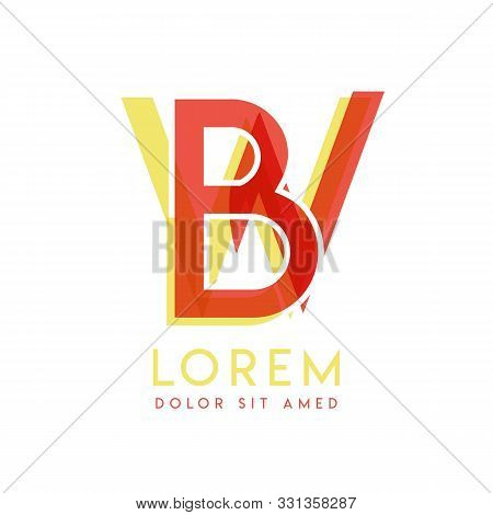 Wb Colorful Logo Design With Pink Orange And Gray Color That Can Be Used For Creative Business And A