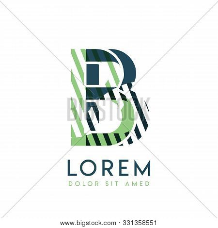 Bb Colorful Logo Design With Green And Dark Green Color That Can Be Used For Creative Business And A