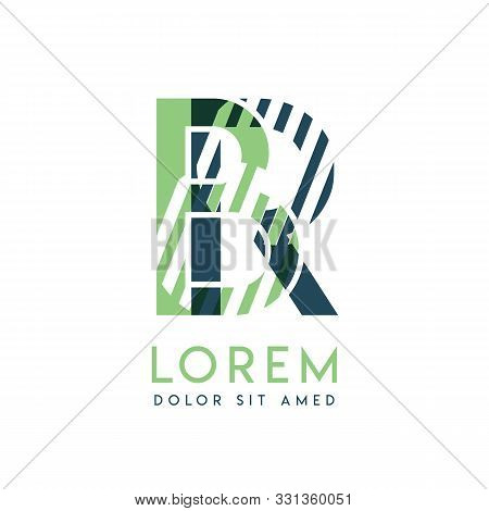 Rb Colorful Logo Design With Green And Dark Green Color That Can Be Used For Creative Business And A