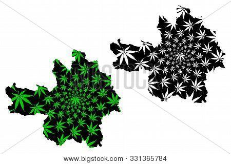 Yen Bai Province (socialist Republic Of Vietnam, Subdivisions Of Vietnam) Map Is Designed Cannabis L