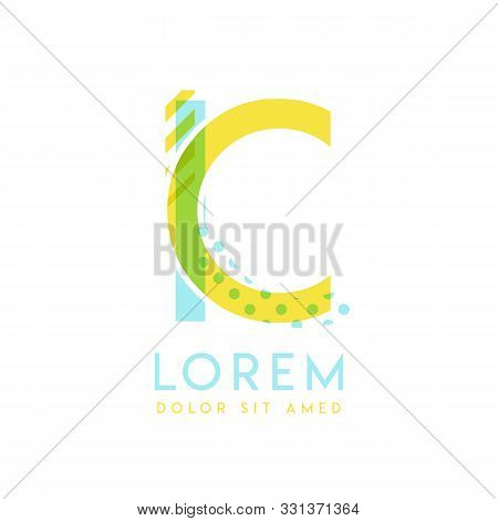 Ic Natural Logo Design With Yellow And Ocean Blue Color That Can Be Used For Creative Business And A