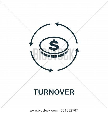 Turnover Icon Outline Style. Thin Line Creative Turnover Icon For Logo, Graphic Design And More