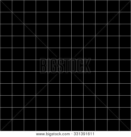 Grid Square Graph Line Full Page On Black Paper Background, Paper Grid Square Graph Line Texture Of