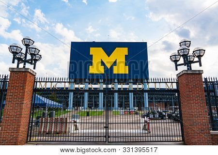 Ann Arbor, Mi - September 21, 2019: Entrance Gate At The University Of Michigan Stadium, Home Of The