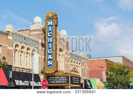 Ann Arbor, Mi - September 21, 2019: Historic Michigan Theater, Built In 1928, Located On East Libert
