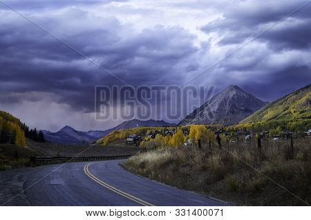 Stormy Clouds Over Gothic Mountain In Crested Butte Colorado