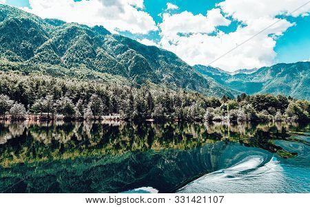 Scenery Of Bohinj Lake At Slovenia Nature In Slovenija