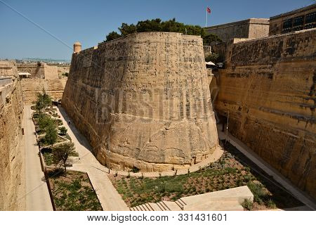 The Fortifications Of Valletta Are A Series Of Defensive Walls And Other Fortifications Which Surrou