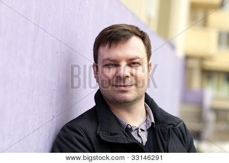 Man On Wall Background