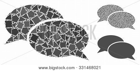 Message Clouds Composition Of Unequal Pieces In Different Sizes And Color Hues, Based On Message Clo