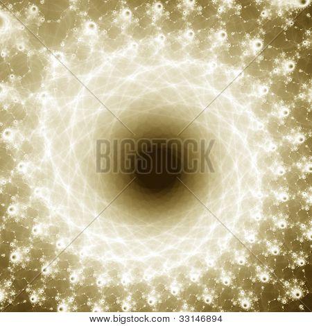 Sepia Spiral Stars Fractal