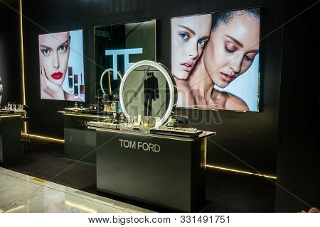 Tom Ford Professional Makeup Shop, Emquatier, Bangkok, Thailand, Oct 20, 2019 : Cosmetic Products Di