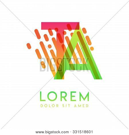 Ta Logo With The Theme Of Galaxy Speed And Style That Is Suitable For Creative And Business Industri