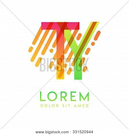 Ty Logo With The Theme Of Galaxy Speed And Style That Is Suitable For Creative And Business Industri