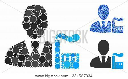 Industry Capitalist Mosaic Of Small Circles In Variable Sizes And Shades, Based On Industry Capitali