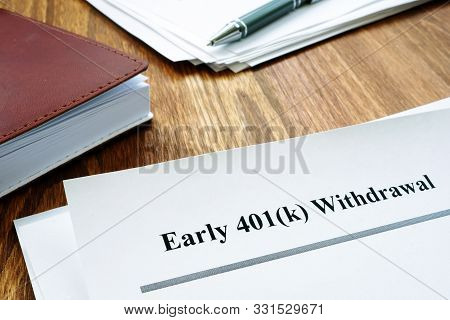 401k Early Withdrawal Penalty Letter And Notebook.