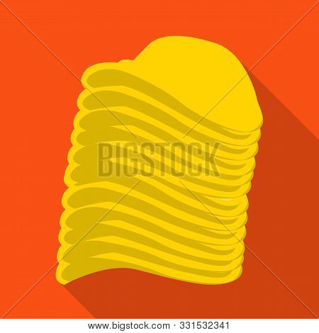 Vector Illustration Of Chip And Stack Icon. Web Element Of Chip And Crunchy Stock Symbol For Web.