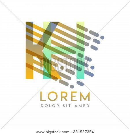 Kh Logo With The Theme Of Galaxy Speed And Style That Is Suitable For Creative And Business Industri