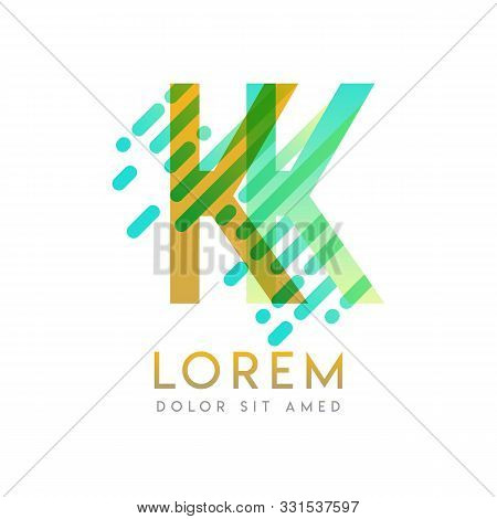 Kk Logo With The Theme Of Galaxy Speed And Style That Is Suitable For Creative And Business Industri
