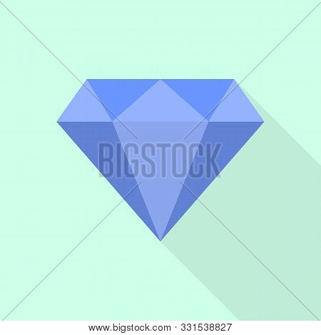 Gem Icon. Flat Illustration Of Gem Vector Icon For Web Design