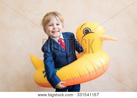 Happy Young Businessman Ready To Travel