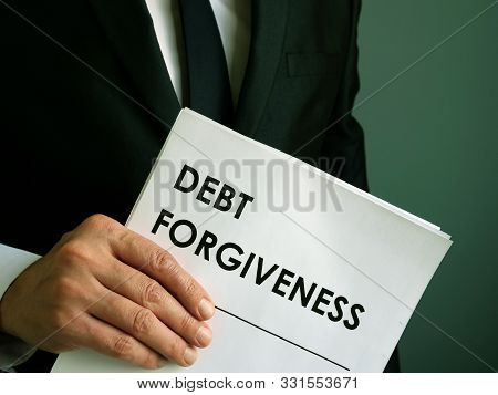 Debt Forgiveness Agreement That The Businessman Holds.
