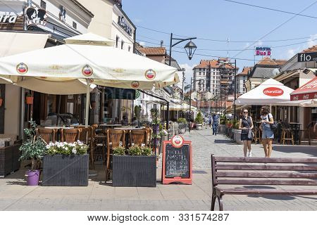 Nis, Serbia - June 15, 2019: Walking People On Main Pedestrian Street At The Center Of City Of Nis,